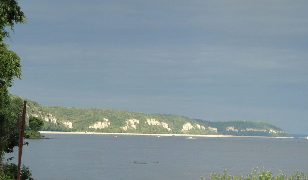 Palisades along the Mississippi River